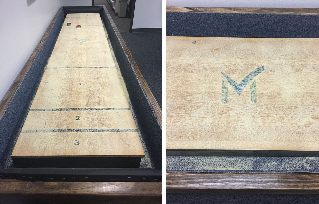 Shuffleboard side by side
