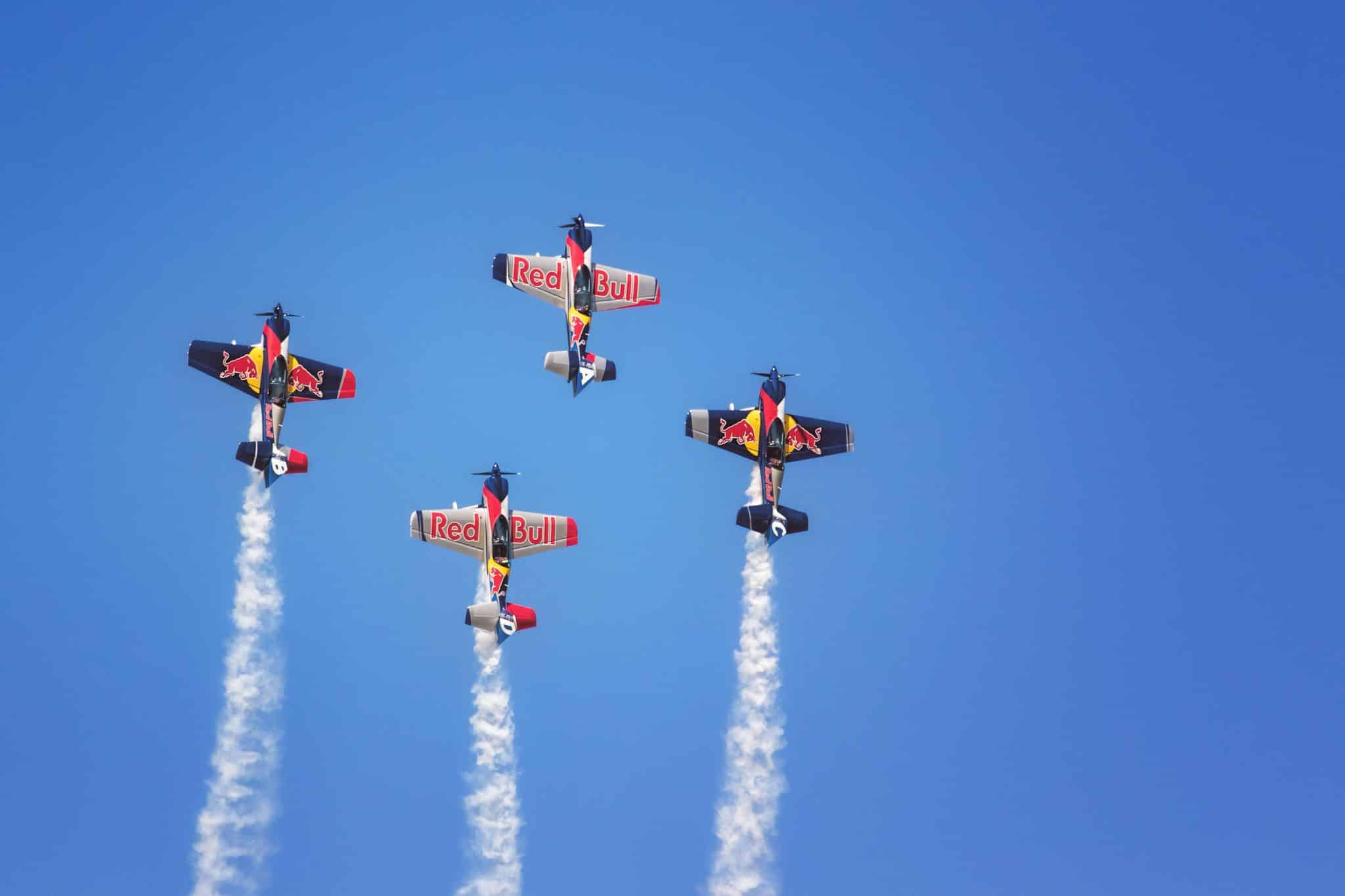 Sliac, Slovakia - August 28th 2016: The Flying Bulls Aerobatic Team Performs At Air Show SIAF 2016 International Air Fest At Sliac Airport.
