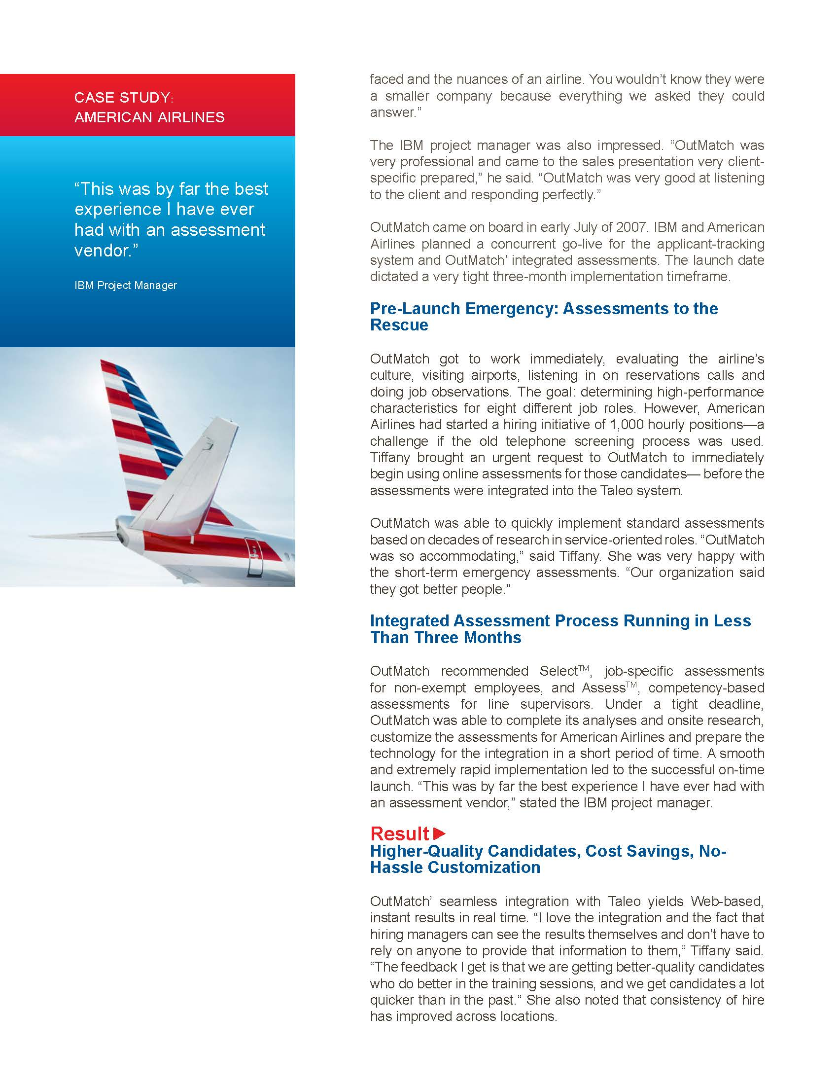 case study distribution at american airlines solution Key survey about us case studies american airlines  they'd also looked at custom solutions  american airlines does a tracking study every two weeks, taking.