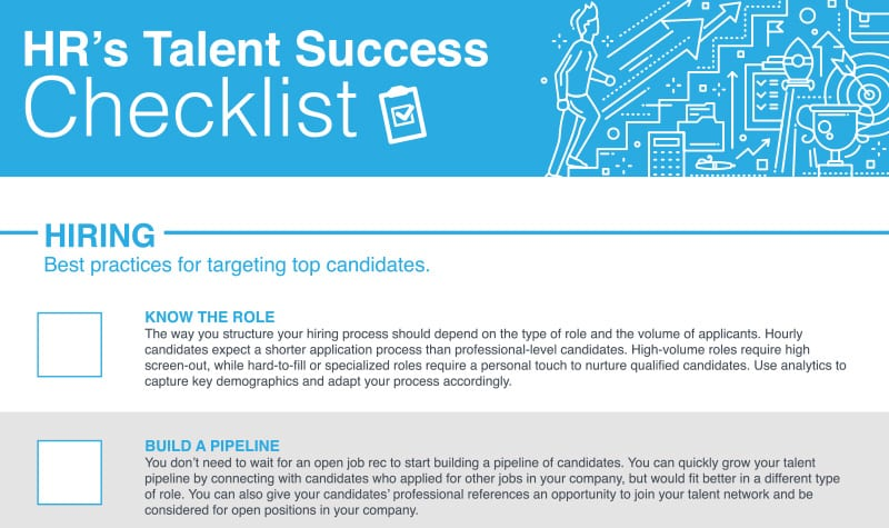 HR's Talent Success Checklist: Building A High-Powered Workforce