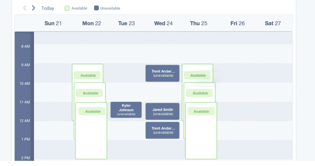 Eliminate scheduling hassles