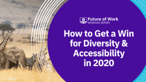 Title slide to webinar - How to Get a Win for Diversity & Accessibility in 2020
